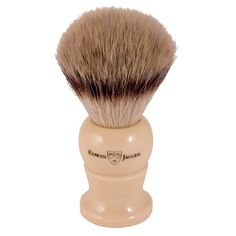 Edwin Jagger Synthetic Silver Tip Shaving Brush Ivory - Large - Synthetic Shaving Brushes - Shaving Brushes