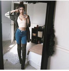 fall winter fashion // thigh high boots