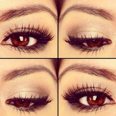 Make up for brown eyes. More subtle. Sometimes I just don't like being showy and I have blue eyes, not brown. #brown eye make-up