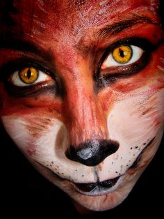 Fox makeup for costume