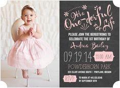 cute birthday invitation for a little girl