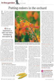Tom Coward's column in Country Life - September 2013