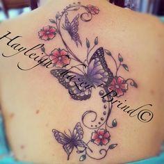 Butterflies & cherry blossoms