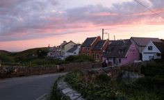 Doolin Village, a coastal village in County Clare, Ireland on the Atlantic coast. It borders the spa town of Lisdoonvarna.