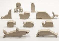 Wooden toys: ANIMAL BOX - SEA {Bleebla}