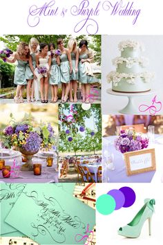 Wedding Colors Mint Green Lavender And Dark Purple