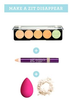 How to conceal a zit , How to Apply Concealer Like a Professional Makeup Artist - Urban Decay 24/7 Concealer Pencil & Make Up For Ever 5 Camouflage Cream Palette (Green concealer)