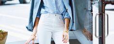 Pantalones blancos también en otoño  - ELLE.com