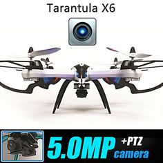 Quacóptero Yi Zhan X6 con 4 Canales, Cámara 5.0MP, Modo Invertido, Retorno con un Botón y Luz LED – USD $ 149.99