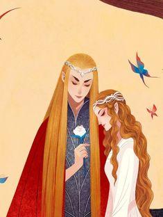 Thranduil & his wife by  雪鱼