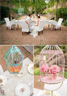 Cute bird cage decor