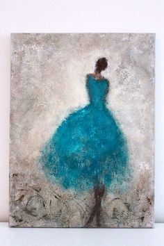 Figurative Painting 24 x 18 x 15 textured by SwallaStudio on Etsy