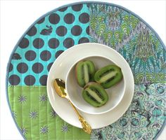 Round Patchwork Placemats