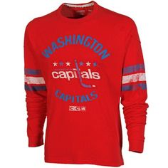 CCM Washington Capitals Ice Pro Applique Long Sleeve Crew T-Shirt - Red
