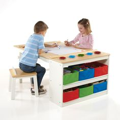 Birch Lane Kids Intermediate Kids 10 Piece Arts & Crafts Table and Chair Set & Reviews | Birch Lane