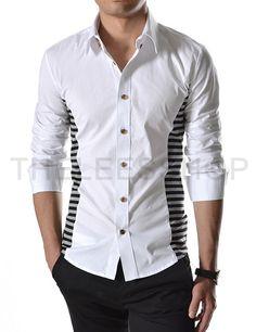 ::::Theleesshop:::: All mens slim & luxury items Shirt Collar Styles, Boys Wear, Slim Man, Hooded Sweatshirts, Shirt Style, Casual Shirts, Shirt Designs, Men Casual, Menswear