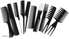 Hair Accessories Shopfleet Pack of 10 Professional Cutting & Styling Comb Kit  Product Name: Shopfleet Pack of 10 Professional Cutting & Styling Comb Kit  Product Type: Comb Brand Name: Shopfleet Material: Plastic  Size: Free Size Package Contains: It Has 10 Pieces of Comb Country of Origin: India Sizes Available: Free Size   Catalog Rating: ★4.2 (714)  Catalog Name: Free Gift Shopfleet Hair Comb Vol 1 CatalogID_482710 C50-SC1815 Code: 702-3468637-994