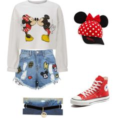 A fashion look from November 2017 featuring Miss Selfridge sweatshirts, Disney Stars Studios shorts and Converse sneakers. Browse and shop related looks.
