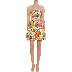 Dolce & Gabbana Floral-Print Jacquard Strapless Dress at Barneys.com $2,445.00