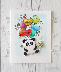 Hello crafty friends! Today I'm just popping in to show you a cute birthday card with a newly released SSS Cuddly Critters & Cuddly Critters Accessories stamp sets. There's nothing like a balloon for