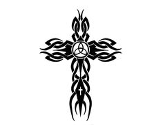 tribal cross tattoo by cortexcreative designs interfaces tattoo design . Tribal Cross Tattoos, Cross Tattoo For Men, Cross Tattoo Designs, Tattoos For Women, Tattoos For Guys, Tattooed Women, Tummy Tuck Tattoo, Tattoo Stencils, Great Tattoos