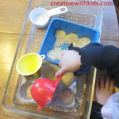 Foam Tray Play - Things to do with toddlers using things from the recycling bin!