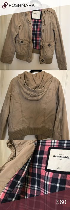 Beige Parka From Abercrombie Kids size XL but fits likes an adults XS-S. Barely worn. Abercrombie & Fitch Jackets & Coats