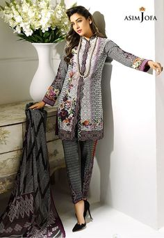 Asim Jofa AJL-7B Digital Lawn 2017 Price in Pakistan famous brand online shopping, luxury embroidered suit now in buy online & shipping wide nation..