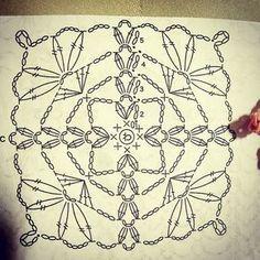 #grannysquare #grannysquarepattern #jachellestephanie #instalike #instapicture #instadaily Crochet Wool, Crochet Blocks, Crochet Squares, Crochet Doilies, Granny Squares, Crochet Motif Patterns, Crochet Chart, Crochet Diagram, Crochet Stitches