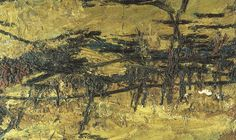 Frank Auerbach - Primrose Hill, Winter Sunshine, 1962-64. Oil on board, 104.1 x 144.8 cm