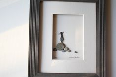Art inspiration: art make with pebbles. What a great idea.