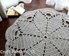Crochet rug by Craft Passion