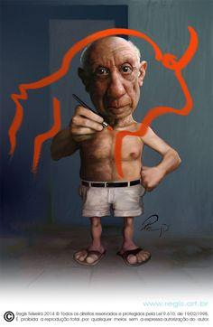 Caricatura de Pablo Picasso