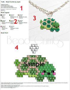 Dancing Panda Brick Stitch Bead Pattern Chart & von BeadCrumbs