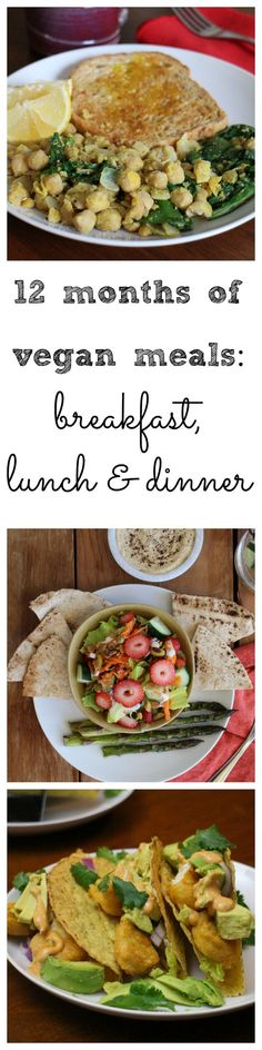 12 months of easy vegan meals: Breakfast, lunch & dinner. Making plant-based meals doesn't have to be time consuming or complicated. Here are some delicious meals that are a breeze to make. | http://cadryskitchen.com