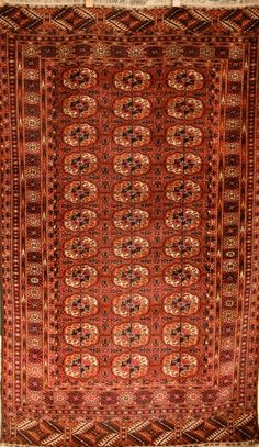Tekke Size:3'10'' x 6'7'' Region: Turkoman Made: circa 1890