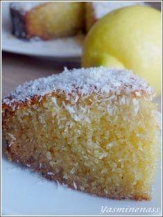 Gâteau semoule à la noix de coco et citron