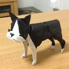 【Origami 】 Boston terrier | by Lonely-Shiba