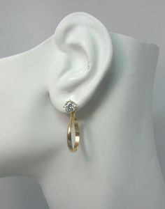 Earring Jackets Gold Jacket For Studs Diamond Dangle Post Earrings Hoop Thin Jh16d2 5wgfsm