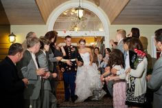Lisa Adams, of Lisa Marie Imagery has a beautiful military wedding to share today