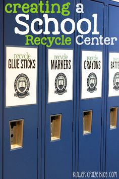 Bright Idea: Creating a School-Wide Recycle Center. 👍 way to get the whole school inspired and involved in going green. Kindergarten Science, Kindergarten Smorgasboard, Preschool Learning, Learning Activities, Art Classroom, Classroom Organization, Green School, Earth Day Activities, Recycling Center