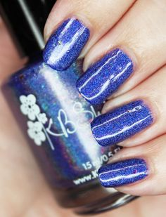 KBShimmer Holo Can You Go- the Most Stunning Custom Blurple Holo! – All Things Beautiful XO - Modern Cute Nail Art Designs, Beauty Review, Nail Art Galleries, Holiday Nails, Nails Magazine, Cool Nail Art, Homemade Beauty, Cute Nails, All Things
