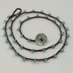 Crocheted Beaded Necklace Bohemian 3x Wrap Bracelet by jkadesigns, $26.00