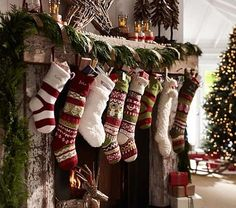 Stocking hung by the chimney with care.......Love this look.