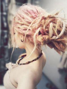 Pink dreadlocks