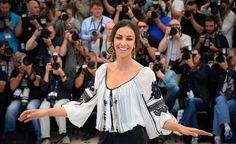 Madalina Ghenea looks stunning in this ethnic blouse at Cannes Festival! We love her look.