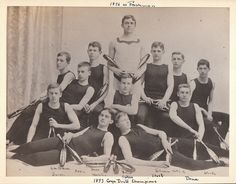 Classic!  Men's Gymnastics at Bowdoin College in 1896.  My great grandfather Francis Dane is the furthest to your left.