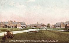 Soldiers' Home, Looking North from Government Building, Danville, Ill.