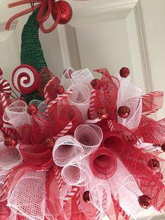 Elf Hat. Door hanger. Christmas wreath. Best holiday decor