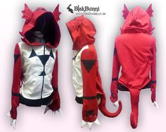 MADE TO ORDER Guilmon cosplay inspired hoodie digimon by BlakBunni